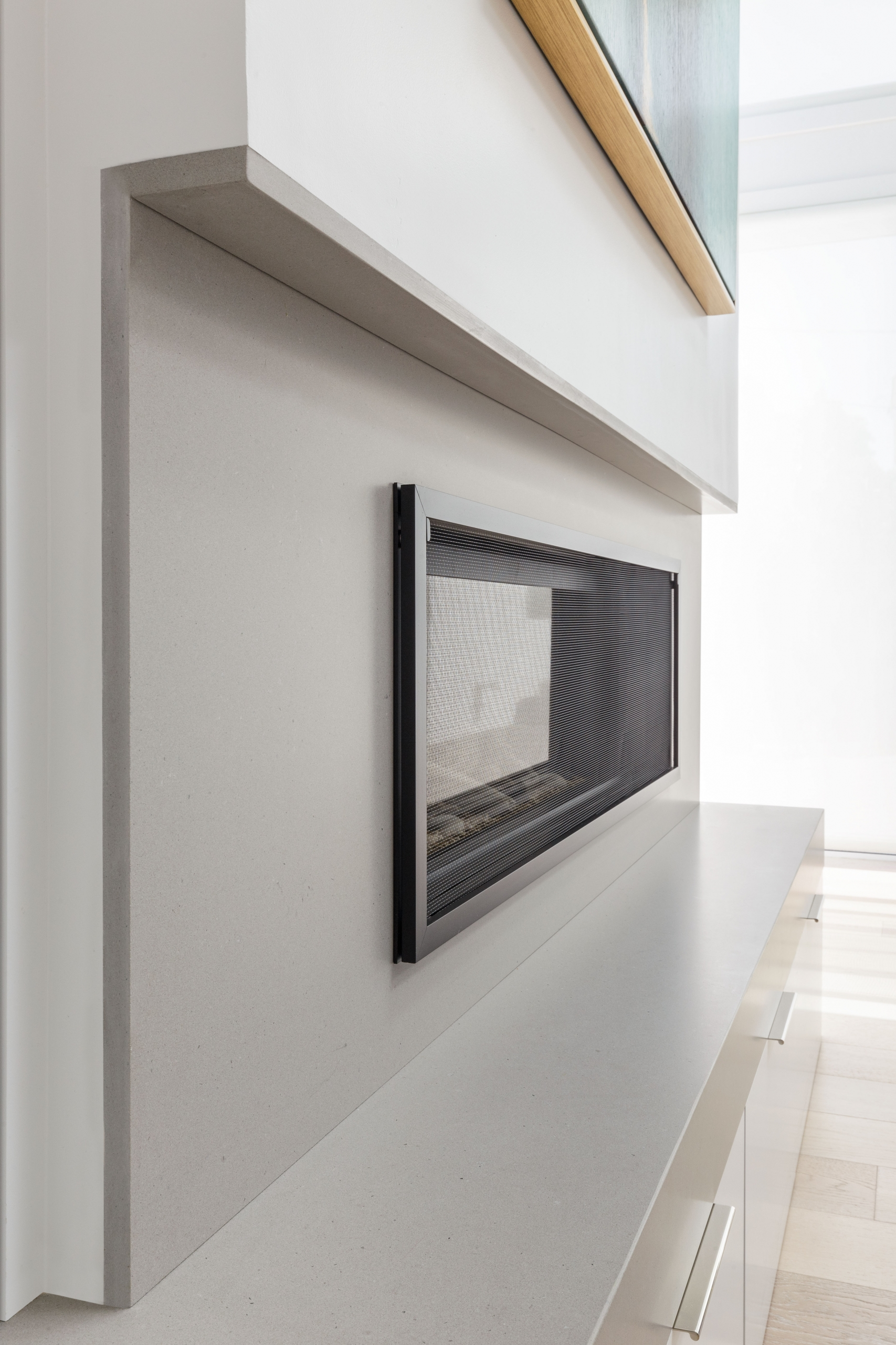 Contemporary fireplace designed by Sarahliz Lawson as seen on Houzz